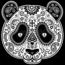 Day Of The Dead Panda Sugar Skull Bear Animal T-Shirt Tee