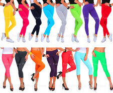 Cotton Full Length and Cropped 3/4 Length Leggings All Colours and Sizes