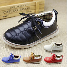 Fashion Comfort Leather Kids Casual Girls Boys Sport Sneakers Shoes For Children