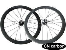 U Shape 20.5mm,23mm,25mm width 50mm Tubular carbon track flip flop bike wheelset