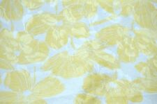 100% Silk Fabric Luxury Yellow Floral print White Jacquard Silk Madein Korea 44""