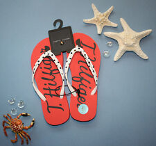 Tommy Hilfiger ANCHOR Flip Flop Sandals Slippers Shoes NWT red colar polka dot