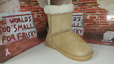 Frisky Tan Faux Suede Girls Youth's Snow Winter Shoes Boots size 11-4 F9511