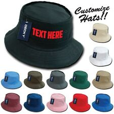 Custom Embroidered Personalized Customized Decky Fishermen's Bucket Hat
