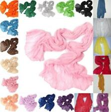2017 Hot Womens Pure Candy Long Crinkle Soft Scarf Wrap Voile Wraps Stole Shawl