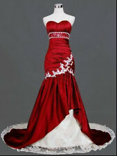 2016 New White/RED Wedding Dress Bridal Gown Ball Size 6 8 10 12 14 16+ Custom