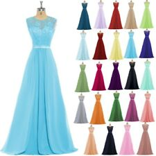 New Formal Lace Evening Ball Gown Party Prom Bridesmaid Dresses Stock Size 6-18