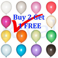 "10 x 12"" Latex Helium or Air Pearlised Balloons for Birthday Party Wedding"