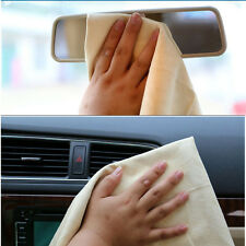 Car Washing Cloth Cleaning Towel Wipes Magic Chamois Leather Clean Cham Beige