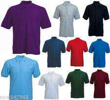 Mens Polo Shirt Pique Size XS to 6XL