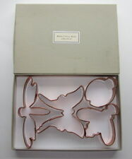 Martha Stewart by Mail BUG Copper Cookie Cutters Butterfly Dragonfly Bee Ladybug