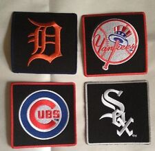 MLB  Iron on Patches Embroidered Free Shipping Yankees~Cubs~White Sox~Tigers
