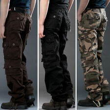AU Hot Mens Casual Tatical Military Army Cargo Camo Combat Work Pants Trousers