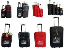 Hard Shell 2 Wheel Upright  Suitcase Luggage Trolley Case Cabin Carry On Handle