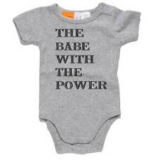 The Babe With The Power Baby Onesie Baby Romper Suit Shower Gift 100% Cotton Fun