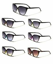Giselle Womens Thin Frame Vintage Cat Eye Retro Fashion Lightweight Sunglasses