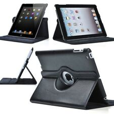 360 Rotating Leather Case Smart Stand Cover for Apple iPad mini 1 Sleep/Wake