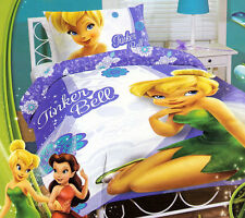 Tinker Bell Quilt Doona Duvet Cover Set Disney Fairies Bedding Tinkerbell Girls