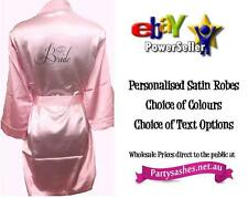 PINK  Personalised Satin Robe Bridal Party Wedding Bridesmaid Bride + More