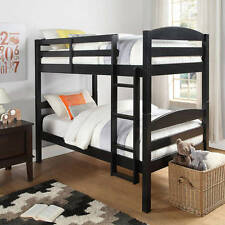 BUNK BEDS TWIN OVER Twin Furniture Bedroom Ladder Wood Convertible [364-369]