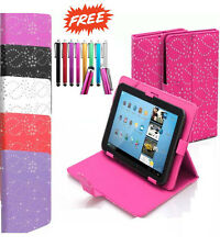"Universal Folio Bling Cuoio Stand Custodia Cover 7 "" 7 inch Tab Android Tablet PC"