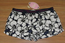 PETER ALEXANDER PJS Womens Hibiscus Floral Shorts Sz M/12 or L/14 BNWT Cotton PJ