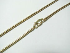 2mm Snake Chain Necklace with Lobster Clasp 14K Gold Plated over Sterling Silver