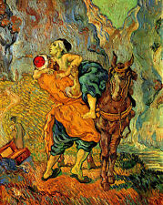 Van Gogh good Samaritan canvas print giclee 8X12&12X17 reproduction