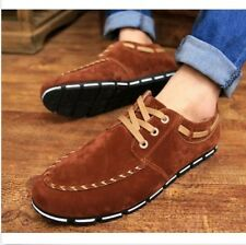5 Colors Mens Velet Lace Up Flats Low Heel Casual Shoes Fashion Sneakers Loafers