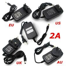 AC 100 - 240V To DC 12V 2A Power Supply Charger US/UK/AU/EU Plug For CCTV Camera