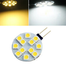 10pcs G4 LED 5050 12SMD Cabinet Marine Boat Car RV Bulb Reading Lamp White/Warm