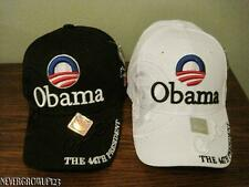 2008 BARACK OBAMA~44TH PRESIDENT COLLECTORS HAT~CAP~WHITE OR BLACK~NWT