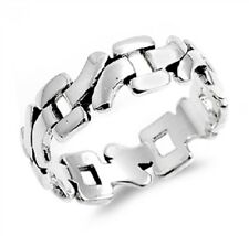 Rough Cut Abstract Ring, Sterling Silver, Timeless, Rocker Style, FREE Shipping