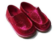 MOOSHU Trainers Squeaker Shoes CAN NEW Hot Pink Sparkle Sz 3-9