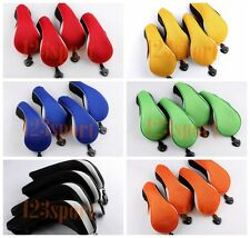 4pcs Neoprene Golf Hybrid Rescue UT Headcovers Covers Set w/ Tag For ALL Brands