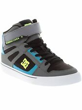 DC Black-Armor-Turquoise Spartan High EV Kids Hi Top Shoe