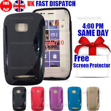 GRIP S-LINE SILICONE GEL CASE & FREE SCREEN PROTECTOR FITS NOKIA LUMIA 710