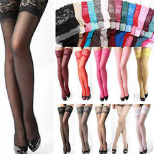 Sexy Stockings Fashion Women Lady Lace Top Stay Up Thigh-Highs Pantyhose Tights