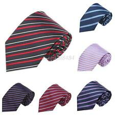 Fashion Classic Casual Striped 100% Silk Jacquard Woven Necktie Men's Tie A15