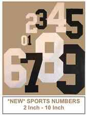 """IRON ON DIE CUT FABRIC NUMBERS - SPORT JERSEY STYLE 2"""" - 10"""" SIZES"""