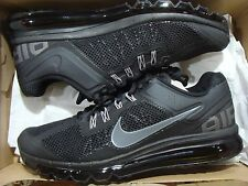 NEW MEN'S NIKE AIR MAX+ 2013 BLACK/DARK GREY 554886-001 SIZE 7.5~13