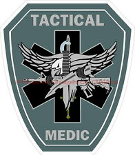 Tactical Medic Reflective Decal Sticker Paramedic EMS SWAT Police Sheriff
