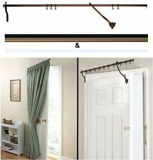 Rising Portiere Rod - 42inches/106cm Steel Long Door Curtain Pole
