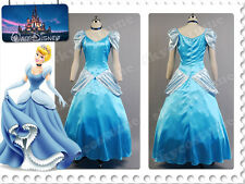 Princess Cinderella Party Dress Ball Gown Outfit Suit Halloween Cosplay Costume