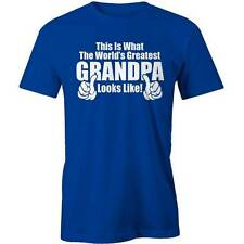 World's Greatest Grandpa T-Shirt Funny Pappa Granddad Grand Father Tee New