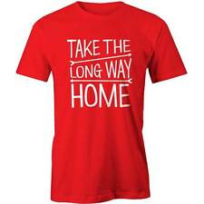 Take The Long Way T-Shirt Travel Adventure Party  Tee New