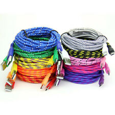 1/2/3M Long Durable Braid Fabric Micro USB Data&Sync Charger Cable Cord F Phone