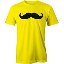 Moustache Black T-Shirt Funny Hipster Icon Swag Mustache  Tee New