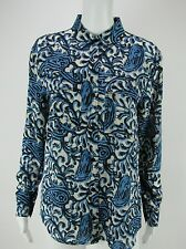MICHAEL KORS Women's Button Down Blue Shirt Top Blouse S M L NEW WITH TAGS