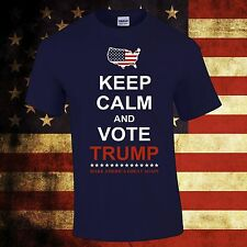 KEEP CALM AND VOTE TRUMP FOR PRESIDENT ELECTION 2016 T-SHIRT TEES  NEW S-3XL